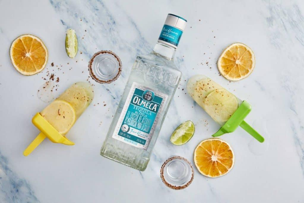olmeca tequila lemon pops frozen