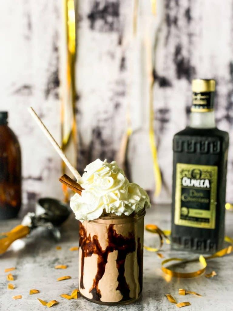 Olmeca chocolate milkshake